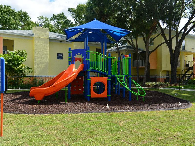 Slide on Jungle Gym